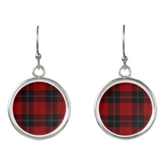 Schottischer Clan Ramsay Ramsey roter schwarzer Ohrringe