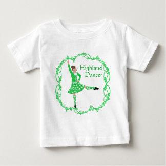 Schottischer Hochland-Tänzer - Grün Baby T-shirt
