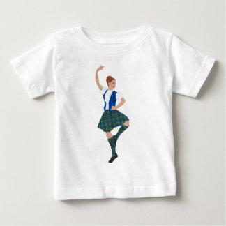 Schottischer Hochland-Tänzer - schwarze Uhr Baby T-shirt