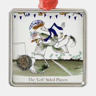 schottischer links Flügelfußballspieler Silbernes Ornament