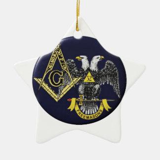 Schottischer Ritus-Maurer Keramik Ornament