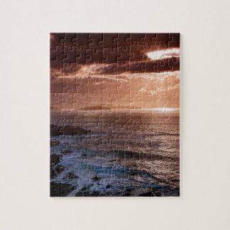 Schottischer Sonnenuntergang, Nordküste von Puzzle