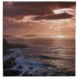 Schottischer Sonnenuntergang, Nordküste von Serviette