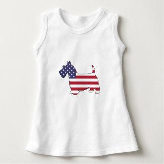 "Schottischer Terrier - ""amerikanische Flagge "" Kleid"