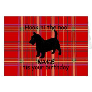 Schottischer Terrier-Hund fertigen Karte, Karte