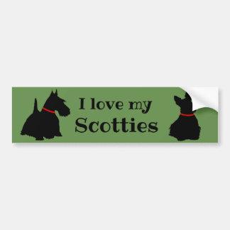 Schottischer Terrier, i-Liebe meine Autoaufkleber