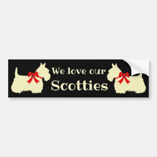 Schottischer Terrier, i-Liebe meine Scotties, Autoaufkleber