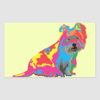 schottischer Terrier Rechteckiger Aufkleber
