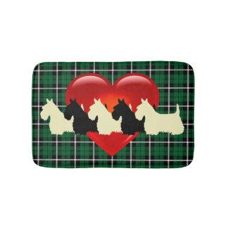 Schottischer Terrier/rotes Herz/Kelly/irisches Badematte