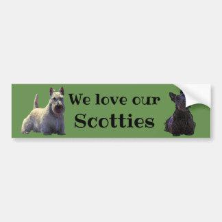 Schottischer Terrier, wir unsere Liebe, Autoaufkleber