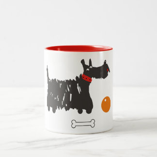 Schottischer Terrier Zweifarbige Tasse