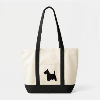 Schottischer Terrierniedlicher schwarzer Impulse Stoffbeutel
