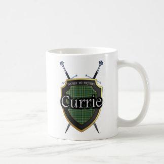 Schottisches Clan Currie Tartan-Schild u. Kaffeetasse