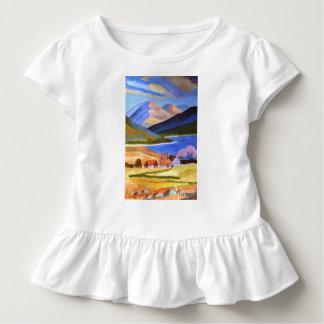 Schottisches Hochland-Kleinkind-Rüsche-T-Stück Kleinkind T-shirt