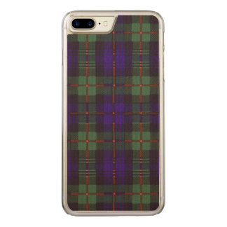 Schottisches kariertes Murray-Clan Tartan Carved iPhone 8 Plus/7 Plus Hülle