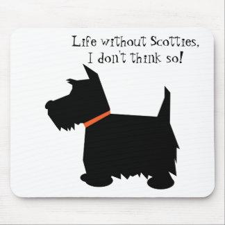 Schottisches Terrierhundeschwarz-Silhouette Mousepad