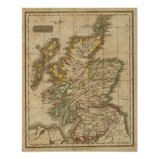 Schottland 4 plakate