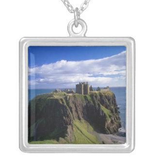 Schottland, Aberdeen. Dunnotar Schloss Versilberte Kette