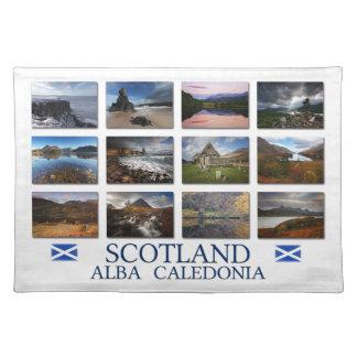 Schottland - alba - Caledonia Stofftischset