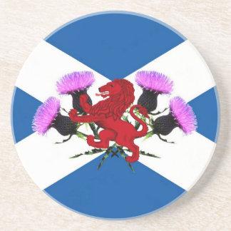 Schottland, Blumendistel, zügelloser Löwe Getränkeuntersetzer
