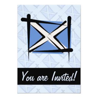 Schottland-Bürsten-Flagge 12,7 X 17,8 Cm Einladungskarte