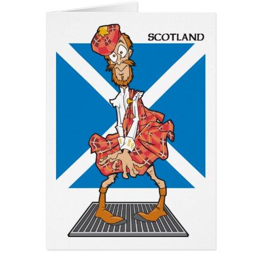 Schottland-Cartoon Grußkarte