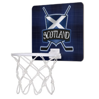 Schottland-Eis-Hockey-Flagge Mini Basketball Ring