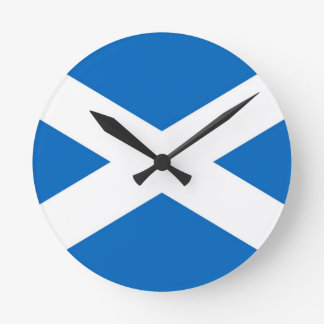 Schottland-Flagge Runde Wanduhr