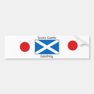 Schottland-Flagge und Schotte-gälischer Autoaufkleber