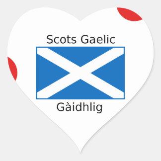 Schottland-Flagge und Schotte-gälischer Herz-Aufkleber
