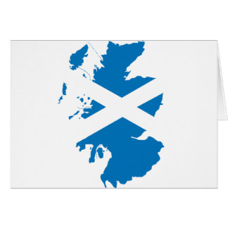 Schottland-Flaggenkarte Karte