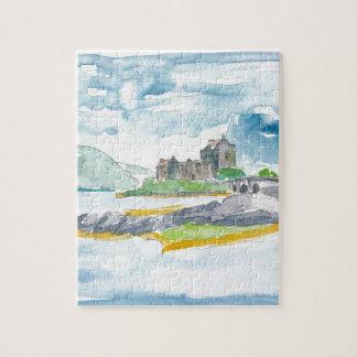 Schottland-Hochland-Fantasie und Eilean Donan Puzzle
