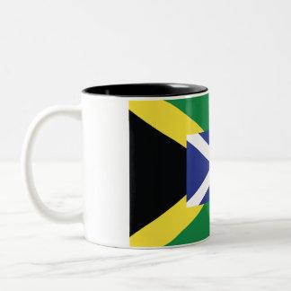 Schottland-/Jamaika-Tasse Zweifarbige Tasse