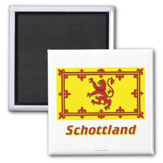Schottland Löwenflagge MIT Namen Magnete