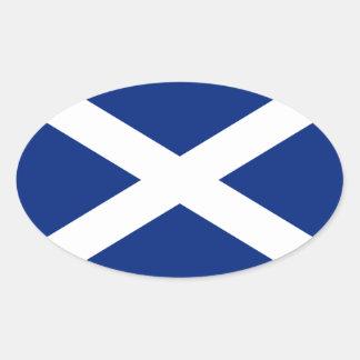 Schottland Ovale Aufkleber