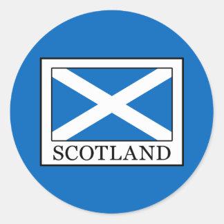 Schottland Runder Aufkleber