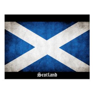 Schottland-Schmutz-Flagge Postkarte
