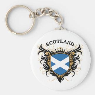 Schottland Standard Runder Schlüsselanhänger