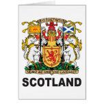 Schottland-Wappen Grußkarten