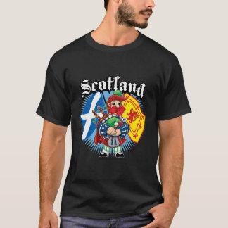 Schottlandflaggen und -pfeifer T-Shirt