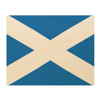 Schottlandscottish-Flagge Holzdruck