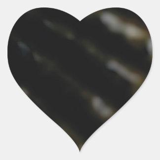 Schräg gelegene Linie Stöße Herz-Aufkleber
