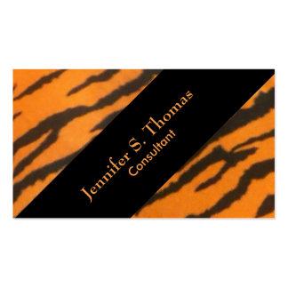 Schräg gelegenes stilvolles Tiger-Muster Visitenkarten
