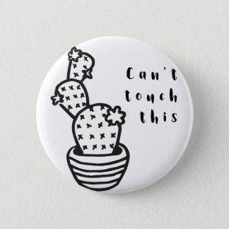 Schräger Touch-Kaktus Runder Button 5,7 Cm
