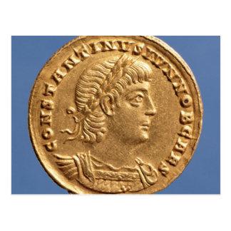 Schrägstrich von Constantine II Caesar cuirassed Postkarte