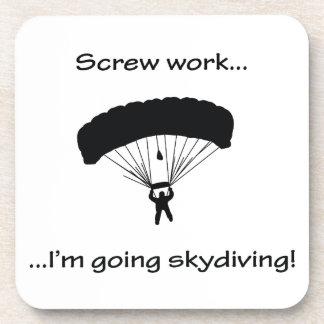 Schrauben-Arbeit… gehendes Skydiving Untersetzer
