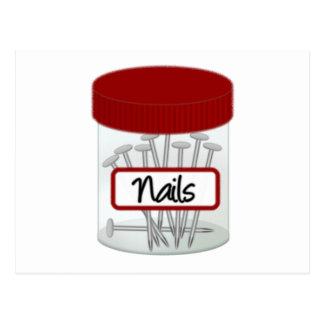Schrauben-Nuts Bolzen und Nägel Postkarte