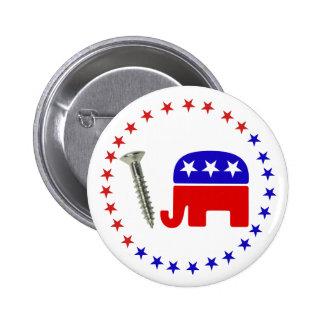 Schrauben-Republikaner-lustige politische Ikone Runder Button 5,7 Cm