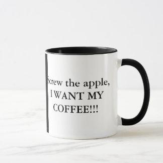 Schrauben Sie den Apfel, ich wollen meinen Tasse