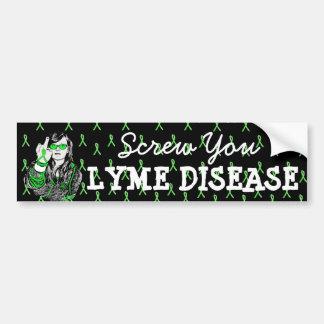 Schrauben Sie Sie Lyme Autoaufkleber